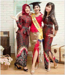 Model kebaya pesta rok batik masakini