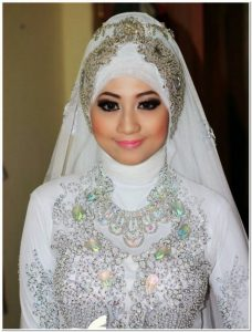 Gambar Model kerudung pengantin muslim modern 2018