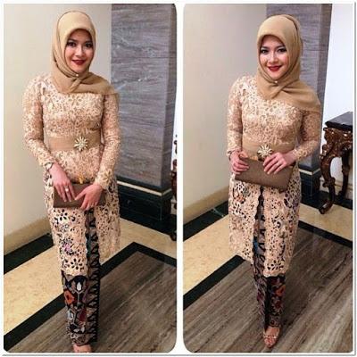 Kebaya hijab untuk pesta modern simple