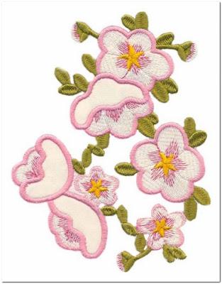 Aneka Motif Bordir Bunga Sakura