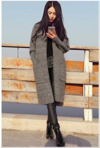 Sweater rajut wanita dewasa panjang