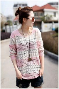 Sweater rajut wanita dewasa keren