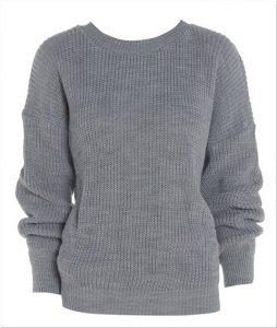 Sweater rajut wanita polos korea
