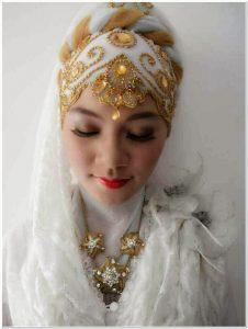 Tutorial jilbab pengantin muslim modern