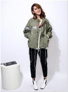 Contoh jaket korea wanita 2018