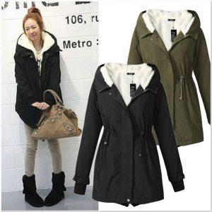 Contoh jaket wanita korea musim dingin