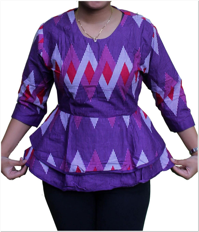 model baju batik Contoh pesta untuk wanita gemuk