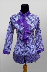 Baju batik kerja untuk guru wanita