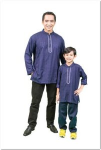 inspirasi Baju koko couple anak dan ayah