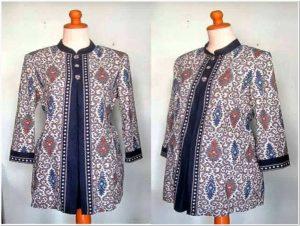 Contoh baju batik kerja guru terbaru