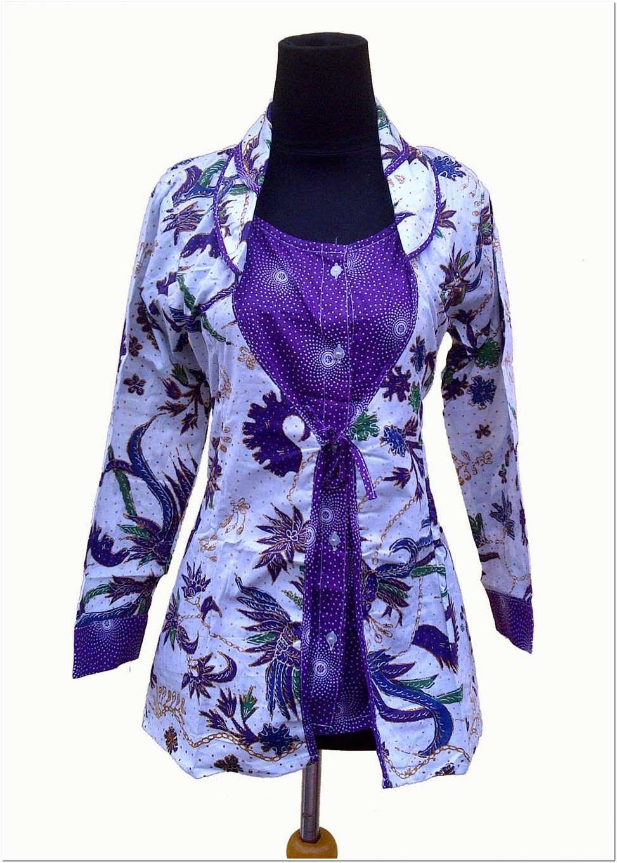 Inspirasi Busana Model Baju Batik Kerja Guru Elegan
