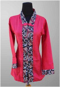 Model baju batik muslim seragam kerja guru