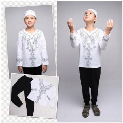 Contoh Gambar baju koko anak warna putih