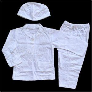 Tempat Grosir baju koko anak warna putih
