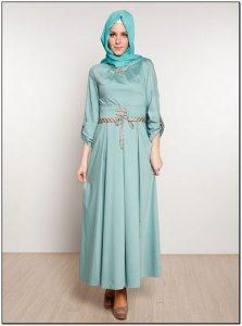 Model baju gamis sederhana elegan