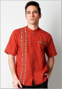 Desain Baju koko dewasa warna merah
