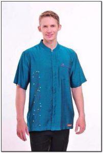 Contoh Baju koko hijau tosca terbaru