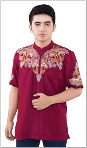 Contoh Baju koko pria warna merah