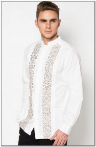 Baju koko pria warna putih terbaru