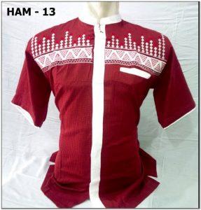 Busana Baju koko warna merah maroon
