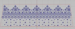 Contoh Desain Bordir Untuk Mukena Simpel
