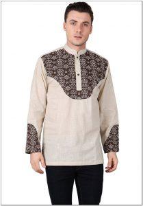 Desain baju koko batik pria terbaru