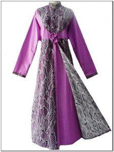 Gamis batik kombinasi blazer