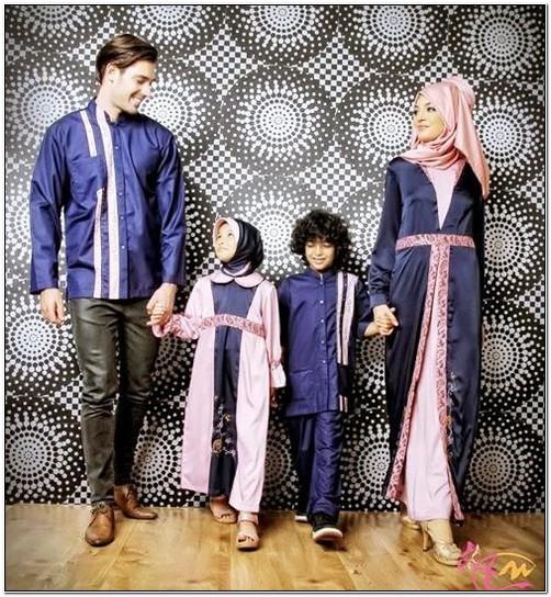 Koleksi Model baju lebaran keluarga modern 2018