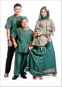 Model cantik baju lebaran untuk 1 keluarga