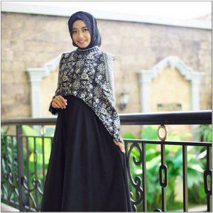 Model Gamis Batik Kombinasi Kain Polos Untuk Remaja