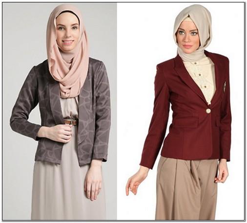 Model pakaian kerja wanita berjilbab Eksklusif