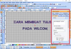 Cara Edit Tulisan Pada Wilcom