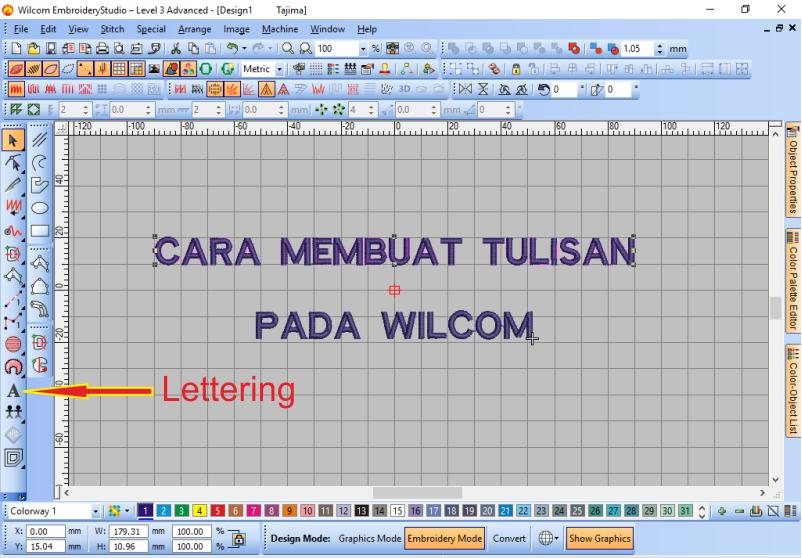 Cara membuat Tulisan Pada Wilcom Serta Mengeditnya Dengan Mudah