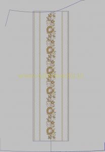 Contoh Desain Bordir Dada Samping kancing Untuk Baju Koko File EMB