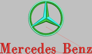 Contoh Desain Bordir Logo Mercedes Benz File EMB