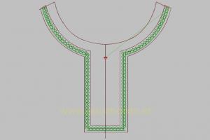 Contoh Gambar Bordir Baju Koko Yang Simple Untuk Pembuatan Koko Lebaran