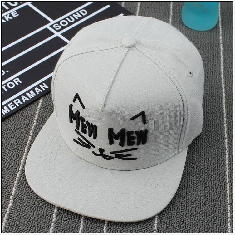 Gambar topi bordiran desain kucing