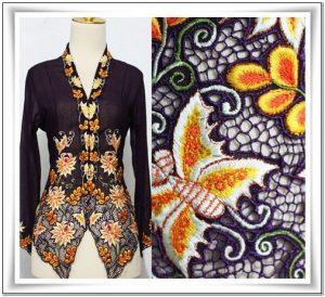 Contoh Motif bordir baju kebaya terbaru