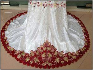 Model Mukena putih motif bordir