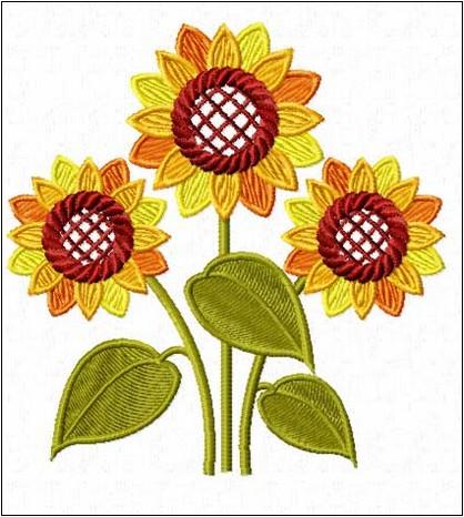 3 Motif Bordir Bunga Matahari 2019