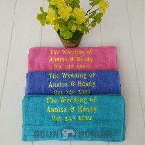 Jasa Custom Handuk Bordir Untuk Pernikahan Harga Murah