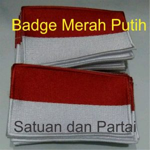 Jual Bordir Badge Merah Putih Murah