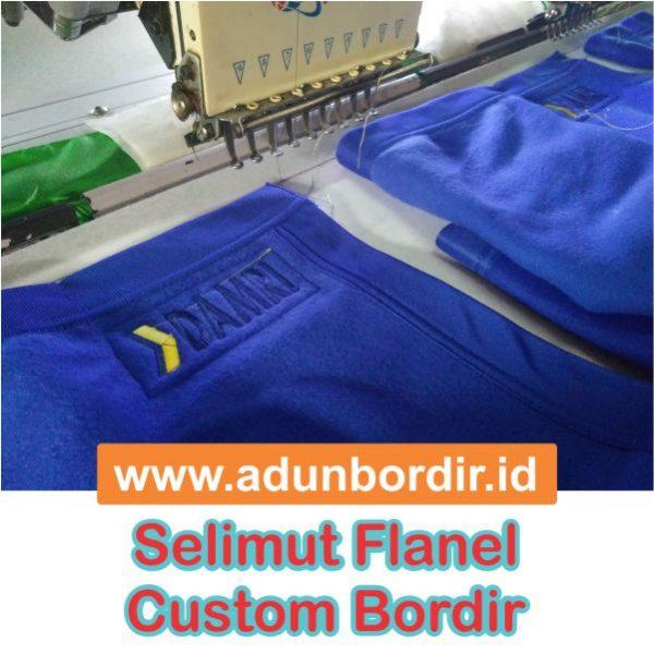Terima Jasa Pembuatan Selimut Flanel Custom Bordir Murah