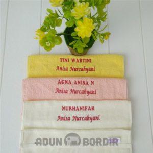 Souvenir Handuk Kecil Bordir Custom