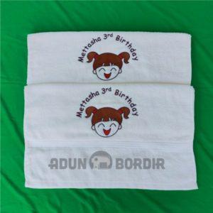 Souvenir Handuk Bordir Nama Untuk Souvenir Ultah