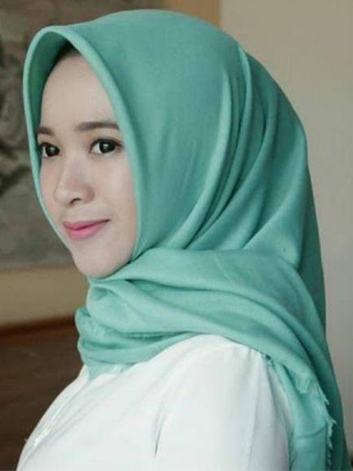Contoh Hijab Warna Tosca Muda