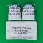 Souvenir Handuk Tasyakuran Khitanan Bordir Custom