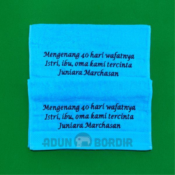 Jasa Pembuatan Souvenir Handuk Mengenang 40 Hari Meninggal